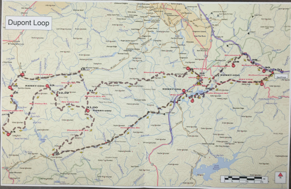 WNC Dirty Dozen Dual Sport Map - Dupont Loop