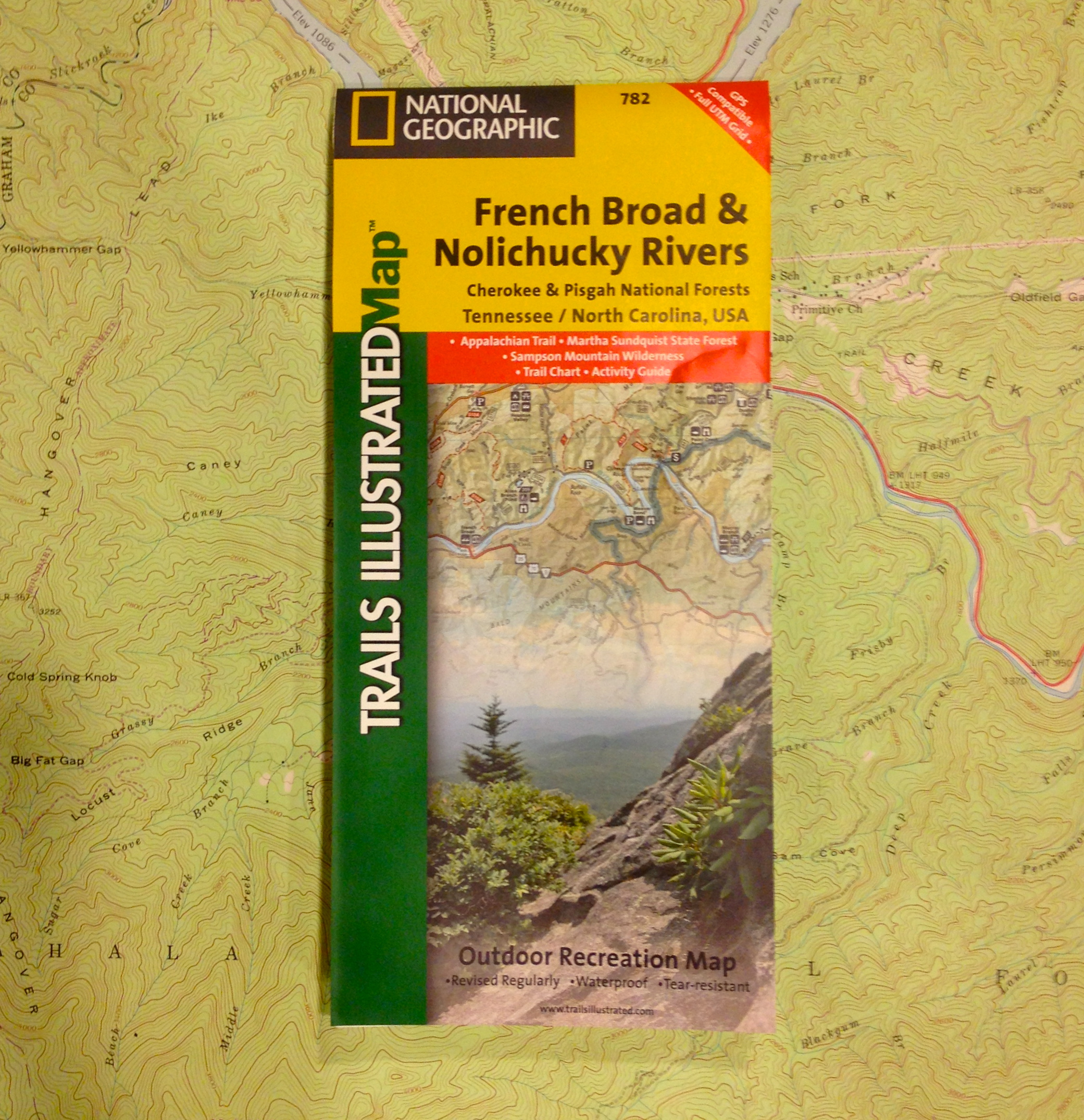 National Geographic Trails illustrated Map - French Broad Nolichuchy Rivers (782)