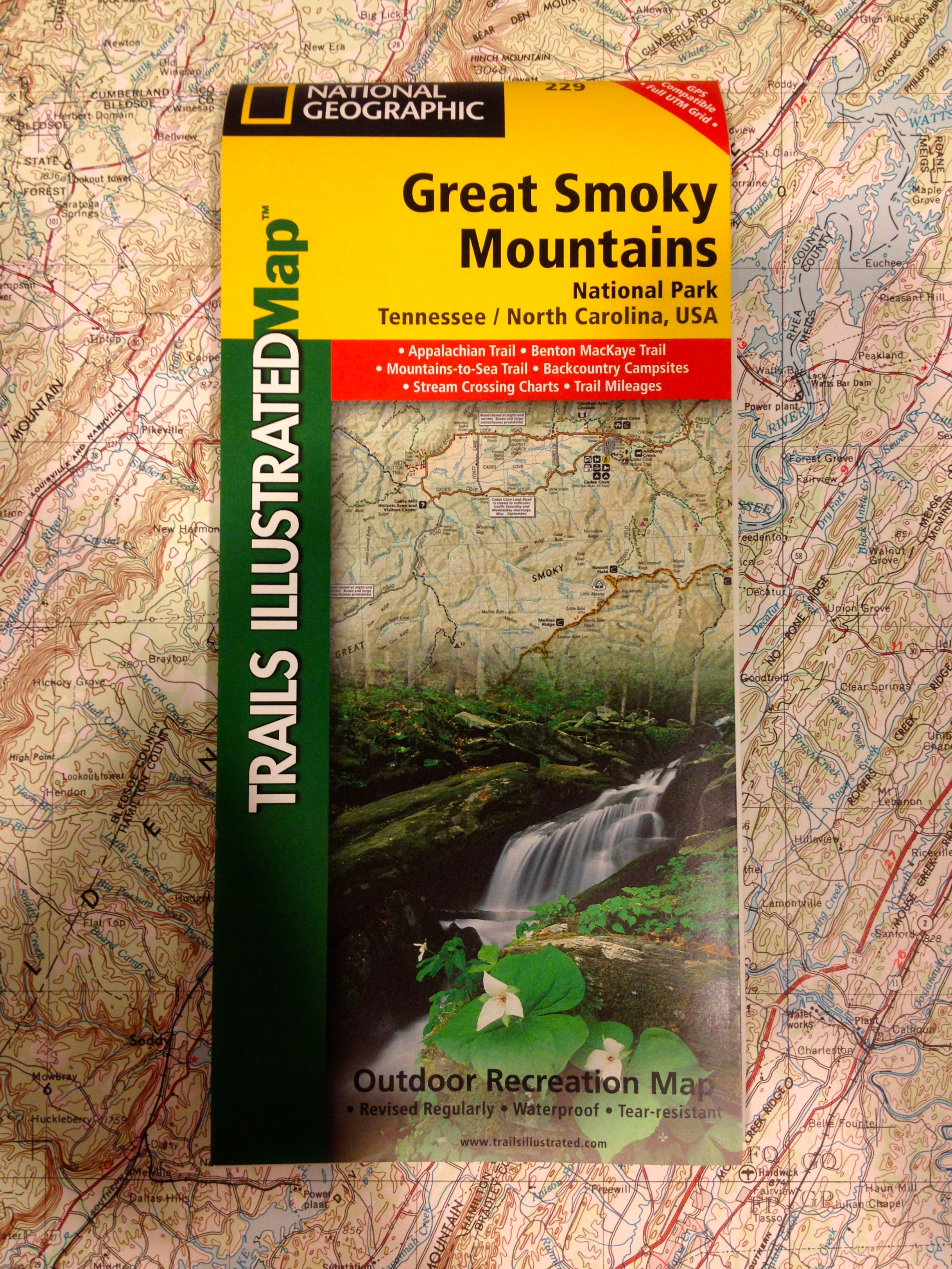 National Geographic Trails Illustrated Map - Great Smoky Mountains (229)