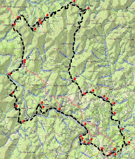 WNC Dirty Dozen Dual Sport Map - Jupiter Loop