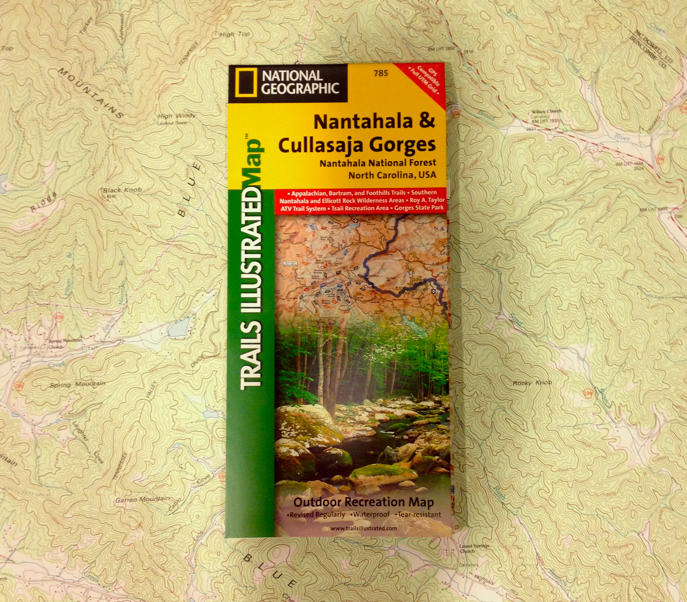 National Geographic Trails illustrated Map - Nantahala & Culasaja Gorges (785)